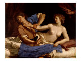 Joseph and the Wife of Potiphar, circa 1649 Giclee Print by Guercino (Giovanni Francesco Barbieri) 