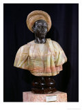 Bust of a Sudanese Man, 1857 (Onyx & Bronze) Giclee Print by Charles-Henri-Joseph Cordier