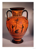 Athenian Black-Figure Amphora, Showing Olive Gathering, circa 520 BC Giclee Print