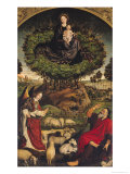 Madonna and Child, Central Panel from the Triptych of Moses and the Burning Bush, circa 1476 Giclee Print by Nicolas Froment