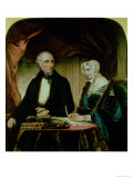 Portrait of William and Mary Wordsworth, 1839 Giclee Print by Margaret Gillies