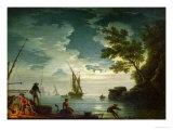 Seascape, Moonlight, 1772 Giclee Print by Claude Joseph Vernet