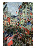 The Rue Saint-Denis, Celebration of June 30, 1878 Reproduction procédé giclée par Claude Monet