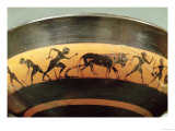 Attic Black-Figure Cup Depicting Workers in a Field, from Athens, circa 530 BC Giclee Print