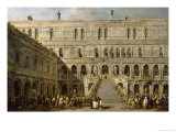 The Coronation of the Doge of Venice on the Scala Dei Giganti of the Palazzo Ducale, 1766-70 Giclee Print by Francesco Guardi