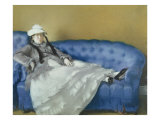 Madame Manet on a Blue Sofa, 1874 Giclee Print by Édouard Manet
