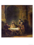 The Supper at Emmaus, 1648 Giclee Print by  Rembrandt van Rijn
