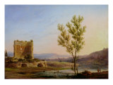 View of the Outskirts of Rome Giclee Print by Pierre Henri de Valenciennes