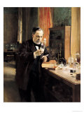 Louis Pasteur (1822-95) in His Laboratory, 1885 Reproduction proc&#233;d&#233; gicl&#233;e par Albert Edelfelt