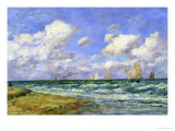 Marine Scene, 1894 Reproduction proc&#233;d&#233; gicl&#233;e par Eug&#232;ne Boudin