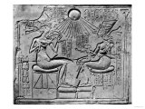 Relief of the Aten Giving Life and Prosperity to Amenophis IV (circa 1352-1336 BC) His Wife Giclee Print