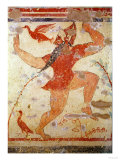 Phersu Dancing, from the Tomb of the Augurs, circa 530-520 BC (Wall Painting) Giclee Print