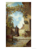 Old Man on the Terrace Giclee Print by Carl Spitzweg