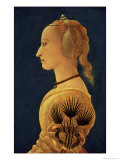 Portrait of a Lady in Yellow, circa 1465 Giclee Print by Alesso Baldovinetti