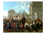Transport of Prostitutes to the Salpetriere, circa 1760-1770 Giclee Print by Etienne Jeaurat