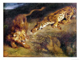 Tiger and Lion Giclee Print by Eugene Delacroix