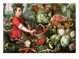 The Vegetable Seller Giclee Print by Joachim Beuckelaer