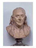 Bust of Benjamin Franklin (1706-90) 1778 Giclee Print by Jean-Antoine Houdon