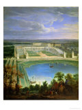 The Orangery and the Chateau at Versailles, 1696 Premium Giclee Print by Jean-Baptiste Martin