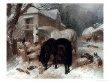 Farmyard Scene Giclee Print by John Frederick Herring I