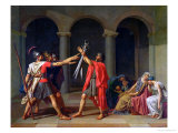 The Oath of Horatii, 1784 Gicléetryck av Jacques-Louis David