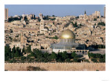 The Dome of the Rock, Built AD 692, and the City Beyond Giclee Print