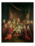 Louis XV (1710-74) Granting Patents of Nobility to the Municipal Body of Paris Giclee Print by Louis de Boulogne