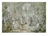 A Masquerade Ball Giclee Print by Charles Joseph Natoire