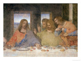 The Last Supper, 1495-97 (Post Restoration) Giclée-Druck von  Leonardo da Vinci