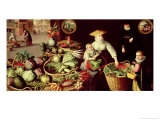 Vegetable Market Giclée-Druck von Lucas van Valckenborch