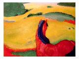 Cheval et paysage, 1910 Impression giclée par Franz Marc