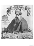 Portrait of Cardinal De Richelieu (1585-1642) Giclee Print by Paul Roussel
