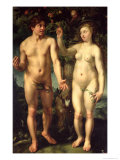 Adam and Eve, 1608 Giclee Print by Hendrik Goltzius