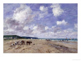 The Beach at Tourgeville, 1893 Giclee Print by Eug&#232;ne Boudin