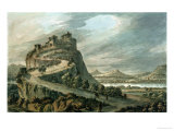 Rocky Landscape with Castle Giclee Print by Robert Adam