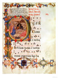 "Historiated Initial ""P"" Depicting the Nativity, from a Gradual and Antiphon Giclee Print"