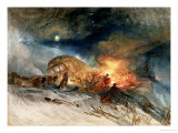 Travellers in a Snowdrift Giclee Print by William Turner