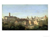 The Forum Seen from the Farnese Gardens, Rome, 1826 Giclee Print by Jean-Baptiste-Camille Corot
