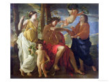 The Poet's Inspiration Giclee Print by Nicolas Poussin