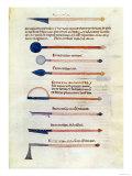 Surgical Instruments from a Treatise by Abul Qasim Kalaf Ibn Al-Abbas Al Zahrawi (Albucasis) Giclee Print