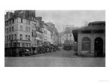 Rue De La Montagne Sainte-Genevieve, (From Place Maubert) Paris 1858-78 Giclee Print by Charles Marville
