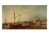 The Tower of London from the Thames Giclee Print by Samuel Scott
