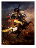 Officer of the Hussars, 1814 Reproduction procédé giclée par Théodore Géricault