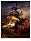 Officer of the Hussars, 1814 Giclée-tryk af Théodore Géricault