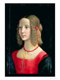 Portrait of a Girl, circa 1490 Giclée-tryk af Domenico Ghirlandaio