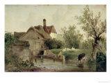 Landscape with a Cottage Reproduction proc&#233;d&#233; gicl&#233;e par Joseph William Allen
