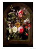 Roses, Tulips and Other Flowers Giclee Print by Johannes Antonius van der Baren