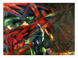 Fate of the Animals, 1913 Gicleetryck av Franz Marc