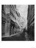Rue Des Bourdonnais (From Rue De Rivoli) Paris 1858-78 Giclee Print by Charles Marville