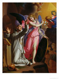 St. Bruno at Prayer, 1671 Giclee Print by Adrien Sacquespee